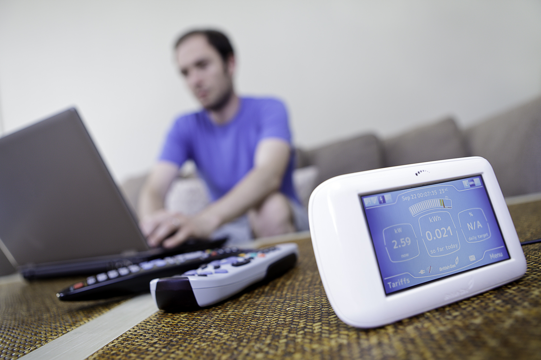 British Gas' energy monitor, the &quot;Pebble&quot; in domestic settings
