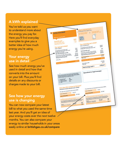 british gas energy bill (back)