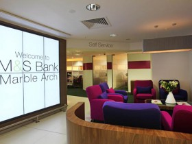 First M&S Bank branch opened today in Marble Arch - 19th July 2012