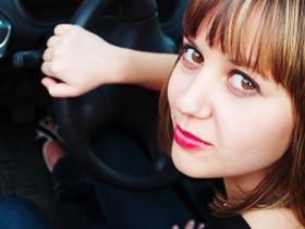 Female Driver car