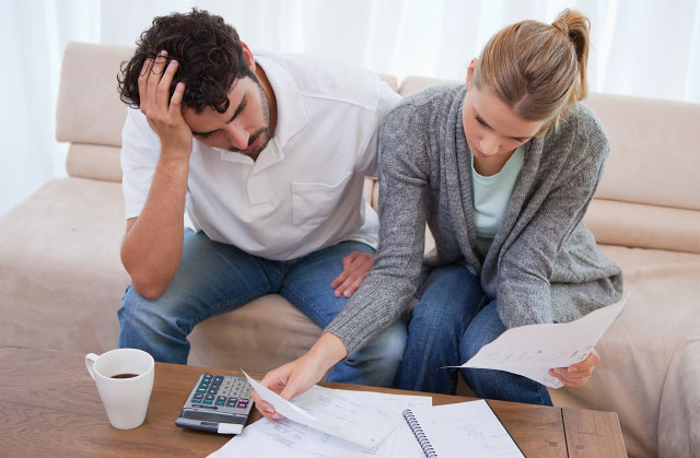 Finances were reported out of control by 73% of 25 to 34-year-olds